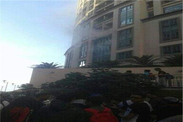 حريق محدود بمبنى سان ستيفانو بالإسكندرية
