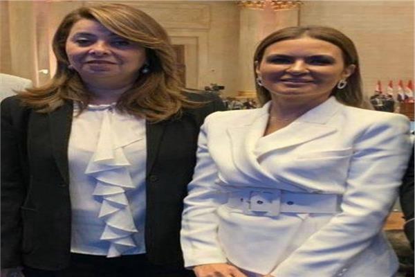 وزيرة الاستثمار والتعاون الدولي د. سحر نصر وزيرة التضامن غادة والي