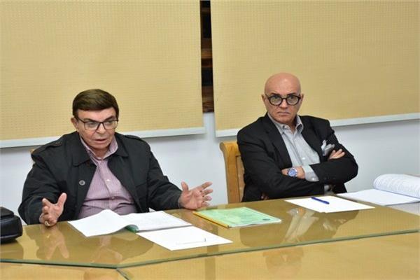 جانب من اللجنة العليا لمهرجان الإسكندرية للسينما الفرانكفونية