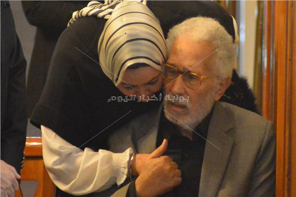 عزاء زوجة عبد الرحمن أبو زهرة