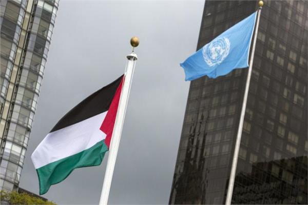 علم فلسطين في الأمم المتحدة