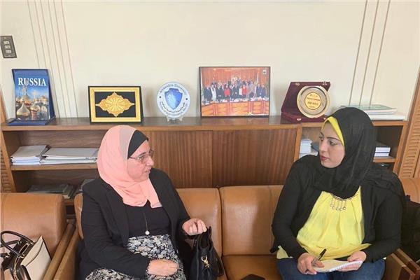 عميد القسم النووي جامعة الإسكندرية خلال الحوار