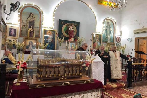 كنيسة الزيتون تستقبل رفات القديسة تريزا