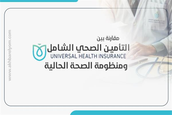 إنفوجراف  مقارنة بين التأمين الصحي الشامل والجديد ومنظومة الصحة الحالية