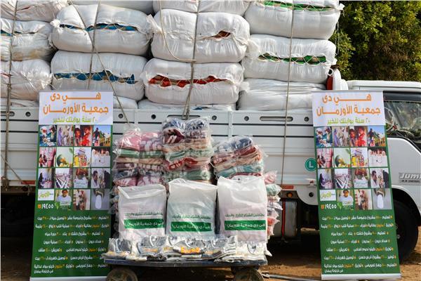 16 ألف بطانية ولحاف فى كل قرى ومراكز محافظة أسيوط