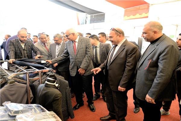 افتتاح معرض المنتجات الوطنية بجامعة المنصورة