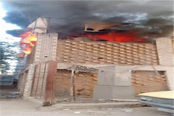 حريق بمدرسة عمرو بن العاص