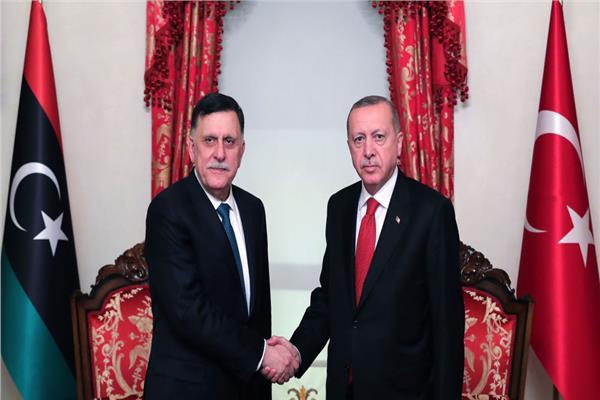 رجب طيب أردوغان وفايز السراج