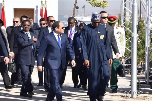 الرئيس السيسي ونظيره النيجيري