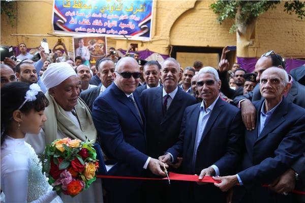 محافظ قنا يفتتح أعمال احلال وتجديد مسجد عكاشة