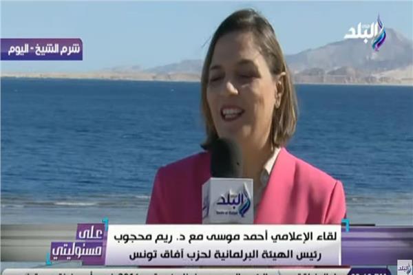 ريم المحجوب رئيس الهيئة البرلمانية لحزب آفاق تونس