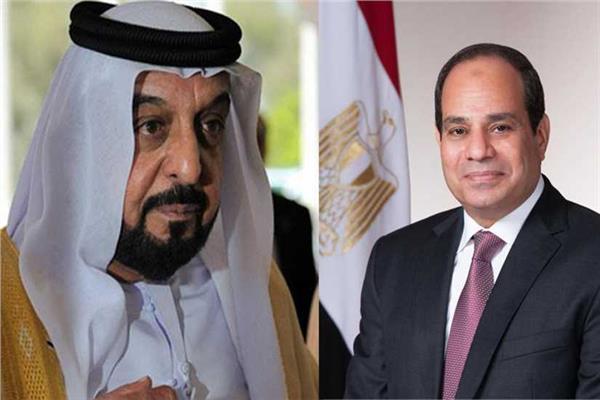 رئيس الإمارات يعزي الرئيس السيسي في ضحايا حادث السير ببورسعيد