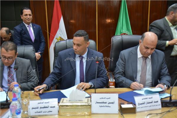 محافظة الدقهلية توقع بروتوكول تعاون مع ووزارة الاتصالات