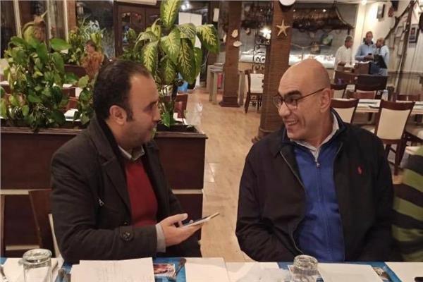 رئيس اتحاد اليد هشام نصر ورئيس القسم الرياضي ببوابة أخبار اليوم