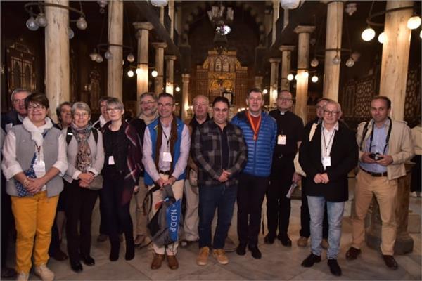 زيارة وفد الكنسي الفرنسي لمسار العائلة المقدسة في مصر