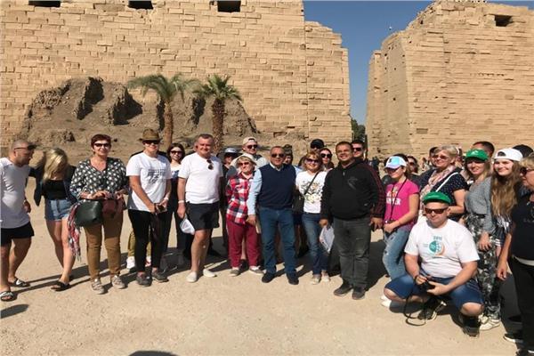 مصطفى وزيري يتفقد المواقع الأثرية بالأقصر