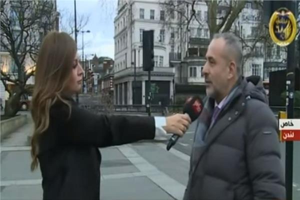 أحمد ياسين مع عضو حزب المحافظين البريطاني