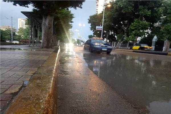 هطول أمطار متوسطة على المدن الساحلية بشمال سيناء