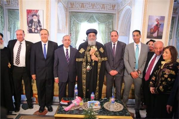 البابا تواضروس الثانى يستقبل رئيس الأكاديمية العربية للتهنئة بـ عيد الغطاس