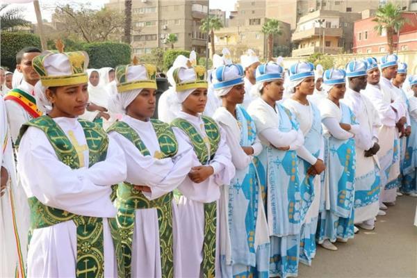 الجالية الاثيوبية في مصر تحتفل بعيد الغطاس