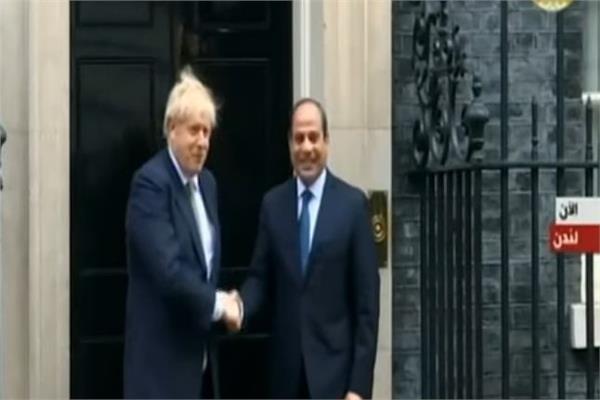 وصول الرئيس السيسي مقر مجلس الوزراء البريطاني