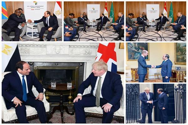 لقاءات مكثفة للرئيس السيسي في بريطانيا
