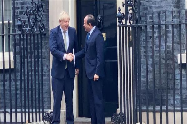 الرئيس السيسي ورئيس وزراء بريطانيا