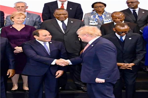 الرئيس السيسي خلال مشاركته في قمة «بريطانيا - إفريقيا» للاستثمار