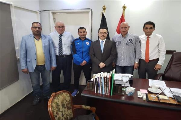 الزمالك يشكر سفير مصر في أنجولا