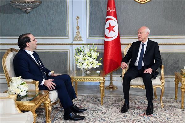 الرئيس التونسي يستقبل رئيس حكومة تصريف الأعمال