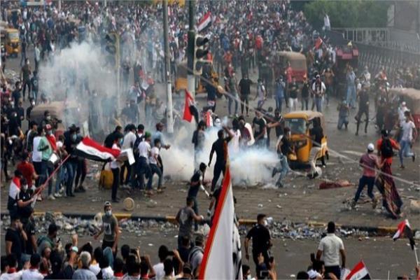 صورة من الاحتجاجات في العراق