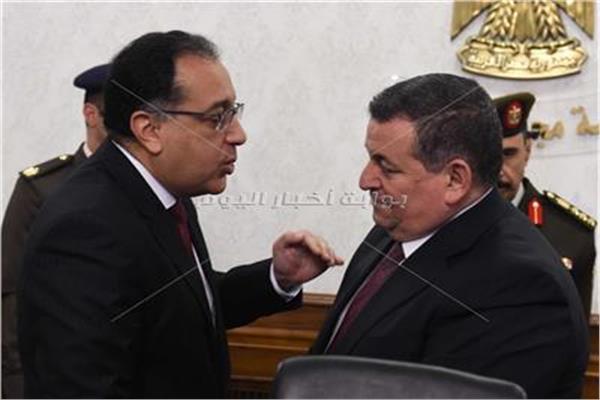 د.مصطفى مدبولي وأسامة هيكل وزير الإعلام