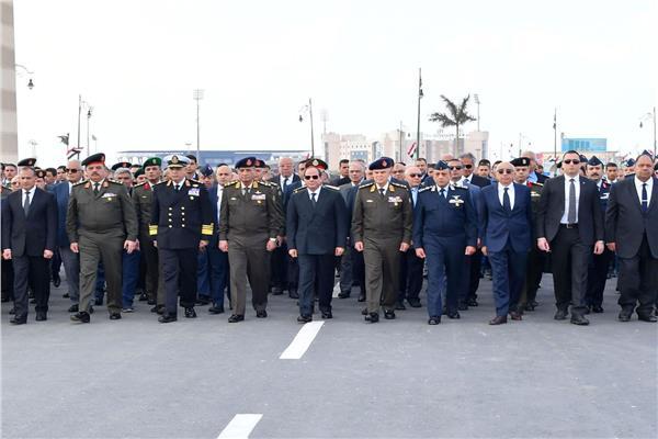السيسي يتقدم الجنازة العسكرية للفريق أحمد نصر قائد القوات الجوية الأسبق