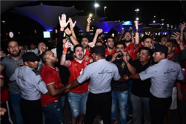 صورة من استقبال جماهير الأهلي للبعثة
