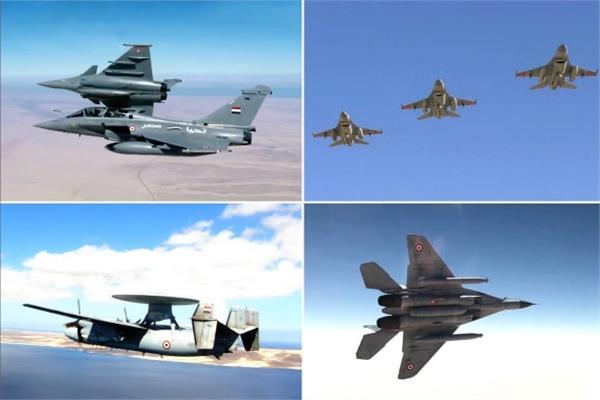 القوات الجوية المصرية والفرنسية تنفذان تدريب جوي