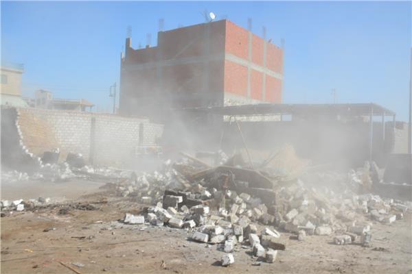 إزالة الإشغالات وبروز المباني المتعدية