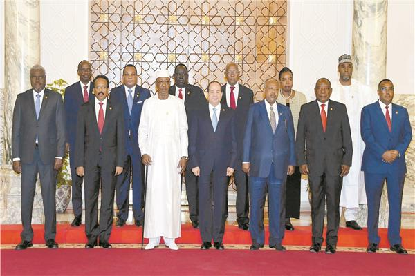 الرئيس السيسي مع قادة أفريقيا لدعم السودان
