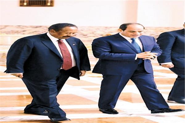 الرئيس السيسي يستقبل د. عبدالله حمدوك