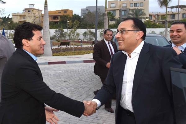 د.مصطفى مدبولي رئيس مجلس الوزراء ود.أشرف صبحي وزير الرياضة