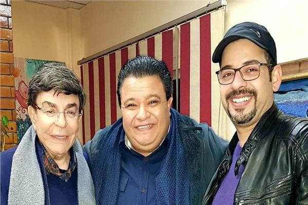 خالد جلال والنجم سمير صبري و المخرج محمد تركي
