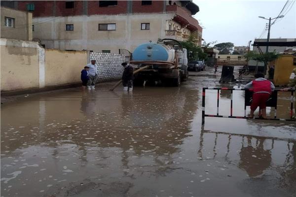 تجمعات مياه الأمطار بالمنوفية