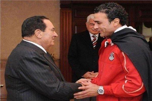 حسني مبارك وعصام الحضري