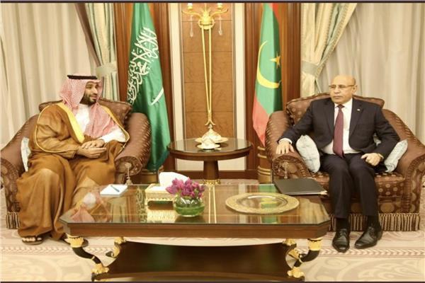الأمير محمد بن سلمان مع رئيس موريتانيا