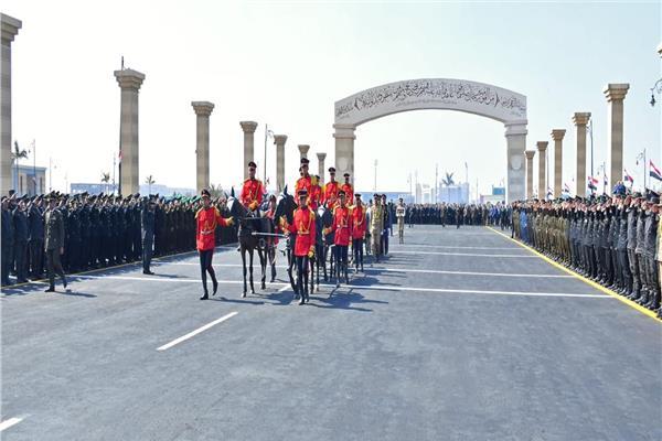 صورة من الجنازة العسكرية التي أقيمت للرئيس الراحل حسني مبارك