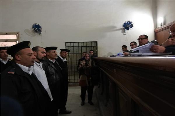المتهم خلال جلسات محاكمته