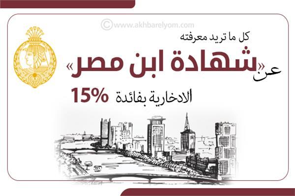 إنفوجراف | كل ما تريد معرفته عن «شهادة ابن مصر» الادخارية بفائدة 15%
