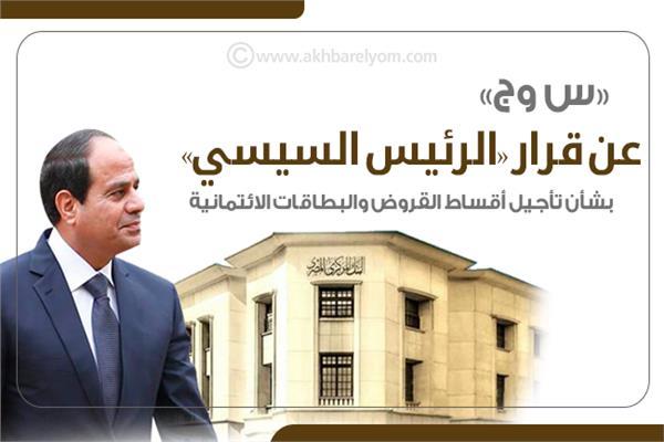إنفوجراف | «س وج» عن قرار «الرئيس السيسي» بشأن تأجيل أقساط القروض والبطاقات الائتمانية