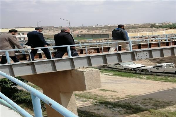رئيس جهاز العاشر من رمضان يتفقد محطات تنقية مياه الشرب