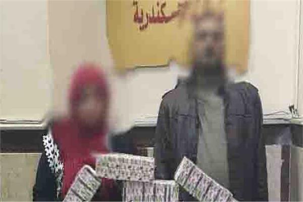 ضبط 15 ألف قرص مخدر و48 طربة حشيش وسلاح نارى بالإسكندرية 