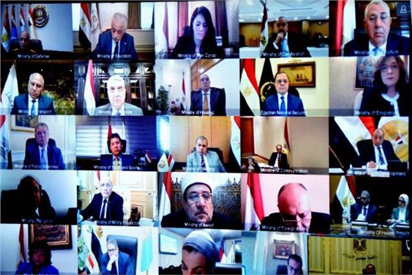 وزراء مصر عبر فيديو كونفرانس